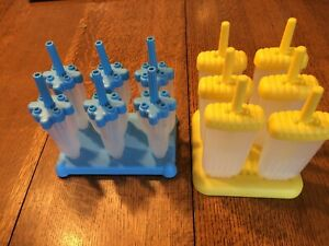 Two Tovolo Ice Pop Mold Sets of 6 With Trays and Drip Guard DIY popsicle maker