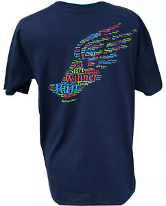 Winged Foot Running Shirt Short Sleeve Sz M Workout Navy Track Cross Country $12.95