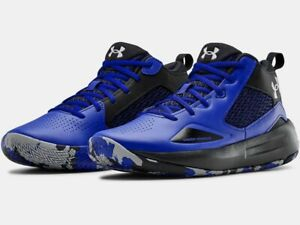 2020 Under Armour Mens UA Lockdown 5 Basketball Blue Curry Style Shoes $69.99
