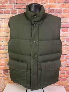 Vintage Cabelas Hunting Snap Green Puffer Sherpa Goose Down Vest Mens Sz Small