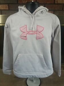 UNDER ARMOUR Pink Camouflage HOODED HOODIE SWEATSHIRT SWEATER Womens SIZE Large $9.95