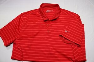 Men's Nike Dri Fit tour performance Golf Polo Shirt Red Large MSRP $55.00 $4.25