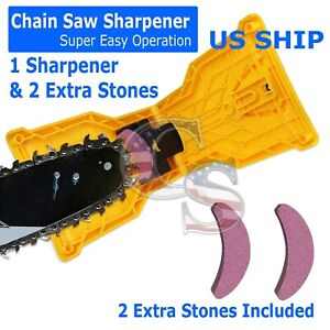 14 20 inch Chainsaw Teeth Sharpener Saw Chain Blade Fast Sharpening Stone System $12.95