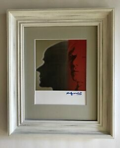 ANDY WARHOL ORIGINAL 1984 SIGNED SELF PORTRAIT PRINT MATTED TO BE FRAMED 11 X 14 $125.00