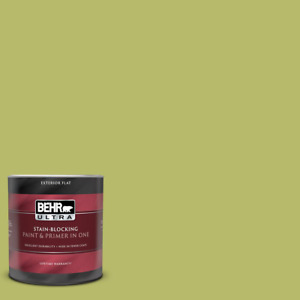 1 qt. #P360 5 Citrus Peel Flat Exterior Paint and r in One