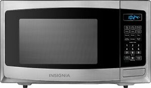 Open-Box Excellent: Insignia- 0.9 Cu. Ft. Compact Microwave - Stainless steel