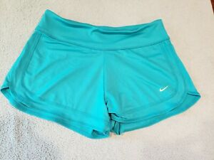 Nike TEAL NON LINED Running Shorts WOMENS SZ S SMALL EXCELLENT! $15.95