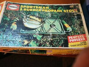 VTG primus two burner propane camping stove Orig Box Sweden Made Free Shipping