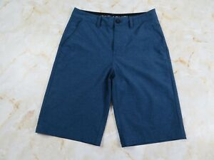 Youth Boy's Under Armour HeatGear Loose Fit Golf Shorts Blue Size 14 $18.99