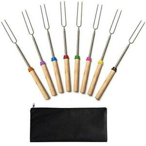 Jtshy Marshmallow Roasting Sticks,Marshmallow Sticks Kit Extending Roaster 32