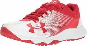 Under Armour Men's Yard Trainer Baseball Shoes, Red White, 12.5 D M US $29.99