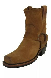 Frye Womens NWB Tan Harness Pull On Square Toe Boots Size 8.5 Authentic $79.99