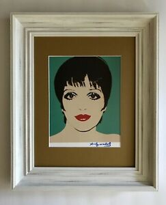 ANDY WARHOL ORIGINAL 1984 SIGNED LIZA MINELLI PRINT MATTED 11X14 + BUY IT NOW! $125.00