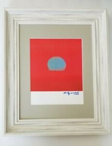 ANDY WARHOL ORIGINAL 1984 SIGNED SUN PRINT MATTED TO BE FRAMED AT 11X14 $125.00