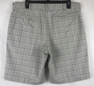 Nike Dri Fit Performance Plaid Golf Shorts Mens Size 40 Gray $22.29