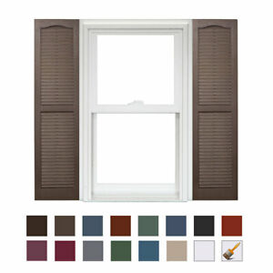 Homeside Open Louver Vinyl Shutter (1 Pair)