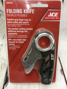Ace Folding Utility Knife 2 position cutting 50%more blade  ~ Save $ More U Buy
