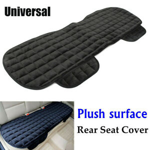 Black Rear Back Row Car Seat Cover Protector Mat Auto Chair Cushion Accessories