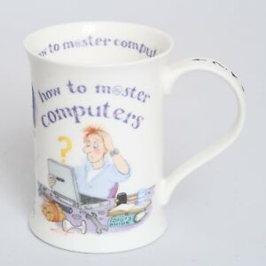 Dunoon Bone China Fine Porcelain Mug with master How to PC Computer Humor VTG