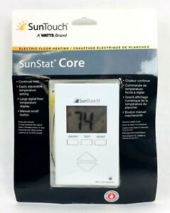 SunTouch SunStat Core Electric Floor Heating Warming Adjustable Temp 81019087