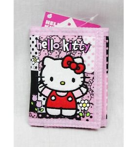 NWT Hello Kitty by Sanrio Trifold Wallet Black Pink Newest Style Licensed