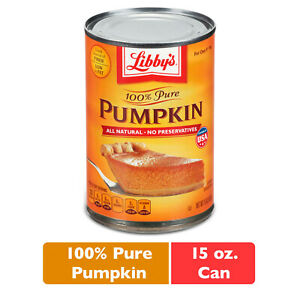 PACK OF 8 Libby#x27;s 100% Pure Pumpkin 15 oz. Can IN HAND