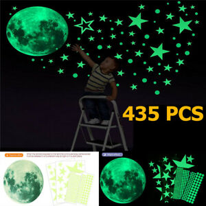 35Pcs Glow In The Dark Luminous Stars & Moon Planet Space Wall Stickers Decal