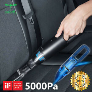 Cleanfly 5000Pa Car Vacuum Cleaner Handheld Wireless Auto Home Office Dust Clean