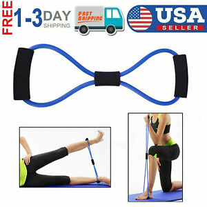 Resistance Fitness Bands Elastic Tube Strength Training Chest Expander Rope USA