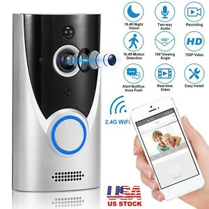 WiFi Wireless Video Doorbell Smart Phone Door Ring Intercom Security Camera Bell