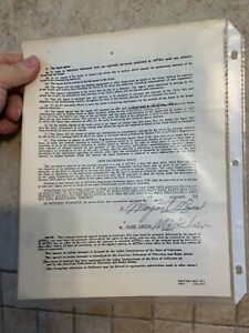 MARGARET O#x27;BRIEN signed contract autograph 1979 $75.00
