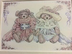 Portal Publications Two Bears in Clothes 1987 Alice Shaw Lithograph 125 CST003  $14.97