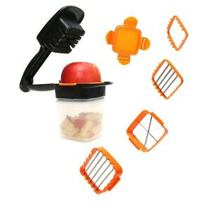 Nicer Dicer Vegetable Chopper with Container Chops Slices Cubes Wedges