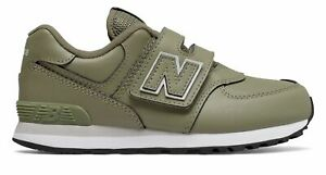 New Balance Kids 574 Hook and Loop Little Kids Male Shoes Green $23.25