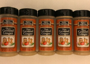 5 Spice Supreme® PURE GROUND GINGER  USA MADE spices cooking seasoning Exp 9/22
