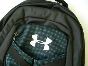 NWT Boy Under Armour Recruit 2.0 Backpack Black White w Some Green $48.75
