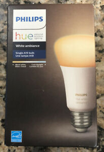 Philips 461004 Hue A19 60W Dimmable LED Smart Bulb White Brand New Factory Seal
