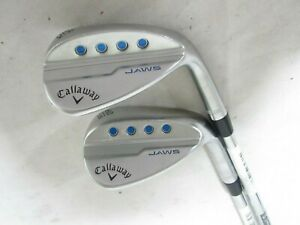 Callaway MD5 JAWS Chrome 54* 60* Wedge Set Tour Issue S200 Stiff Steel Used RH
