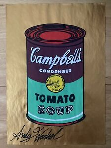 ANDY WARHOL * WATERCOLOR HAND PAINTED ON PAPER - UNIQUE COLLECTION PIECE 🔥🔥🔥 $50.00