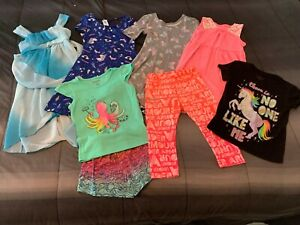 Lot of Girl's Size 4 5 Summer Fall Clothes Healthtex, Under Armour, Jumping Bean $14.50