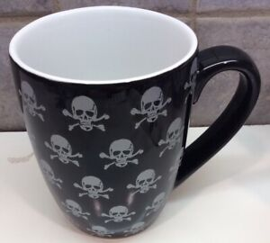 NEW Stoneware 08 College From Target Halloween Black Coffee Tea Cup Mug-skulls