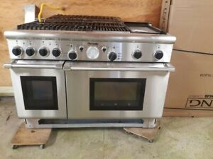Thermador PRG486GDH Stainless Steel 48 in. Gas Range, 4 burner, grill, griddle