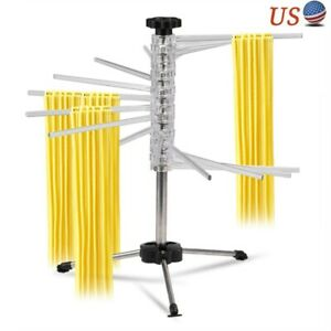 Foldable Spiral Pasta Drying Rack Multi-rods Spaghetti Noodles Dryer Stand USA