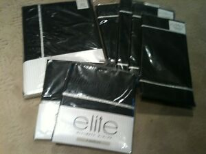 17 pc set Holiday Black tablecloth, placemats, napkins w/silver trim