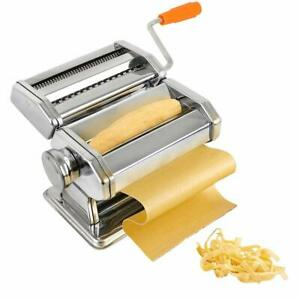 Pasta Maker, Stainless Steel Pasta Machine with 6 Thickness Settings, Prof