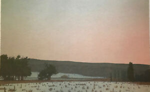Russell CHATHAM original lithograph Winter Dawn at South Park SD  $139.00
