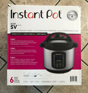Instant Pot Duo SV 9 in 1 6qt Multi-Use USED* Pressure Cooker
