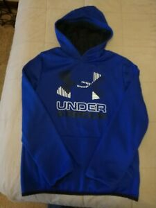Boy's Under Armour Hoody: Size Youth XL, Blue, Front Pocket, LS $4.99