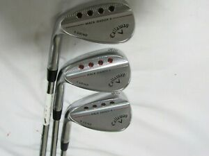 Used LH Callaway Mack Daddy 4 52* 56* 60* Wedge Set Tour Issue S200 Stiff Steel