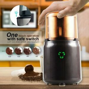 Electric Herb Coffee Grinder Stainless Steel Blades Spices Nut Bean Mill Tools